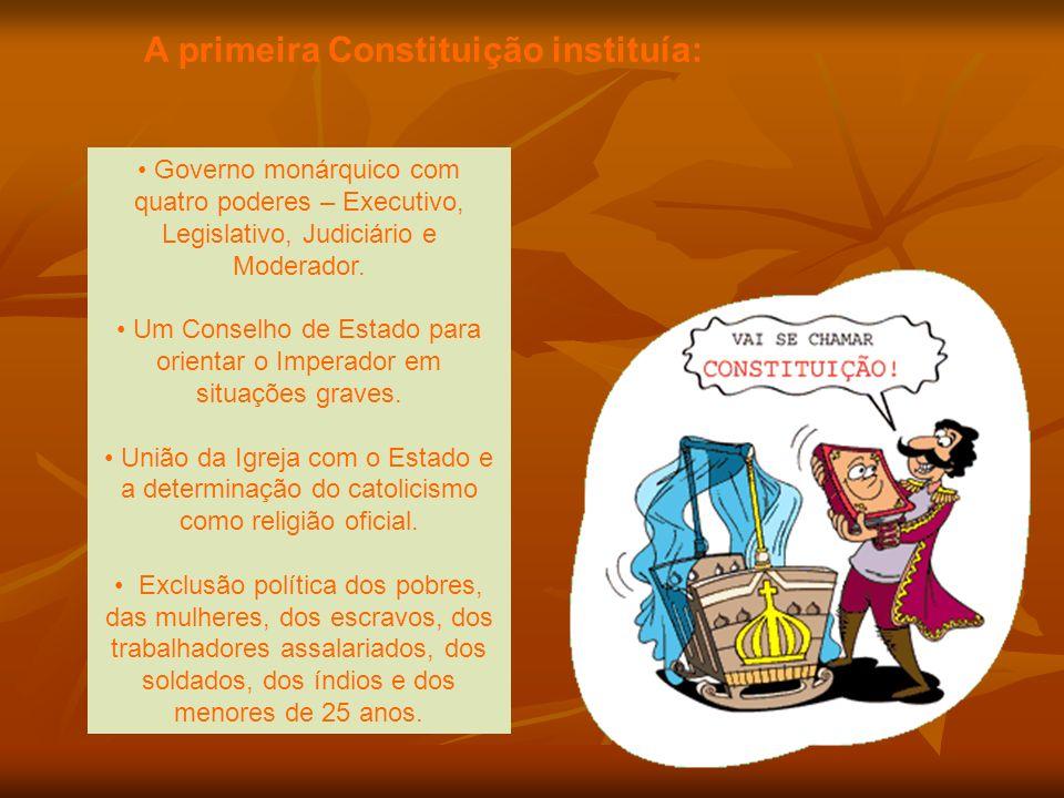 A primeira Constituição instituía:
