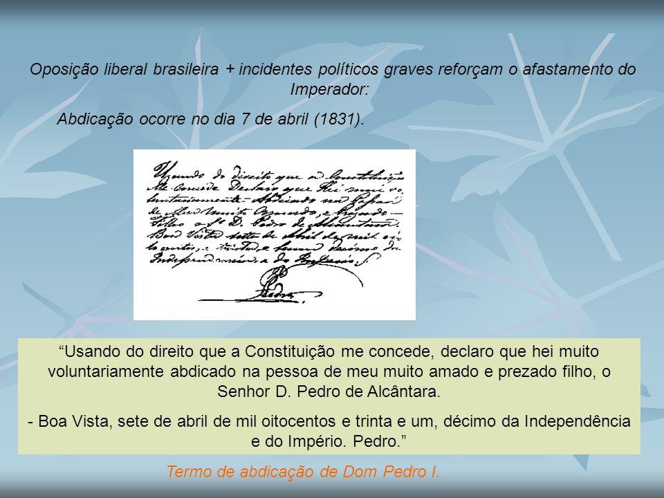 Termo de abdicação de Dom Pedro I.