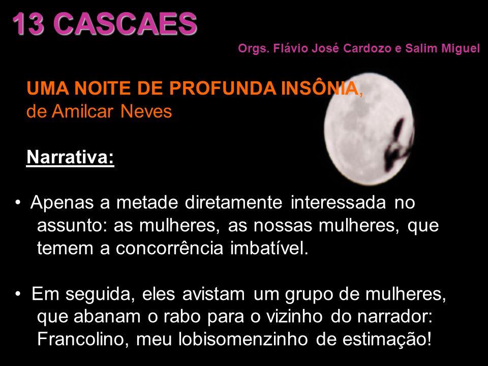 13 CASCAES UMA NOITE DE PROFUNDA INSÔNIA, de Amilcar Neves Narrativa: