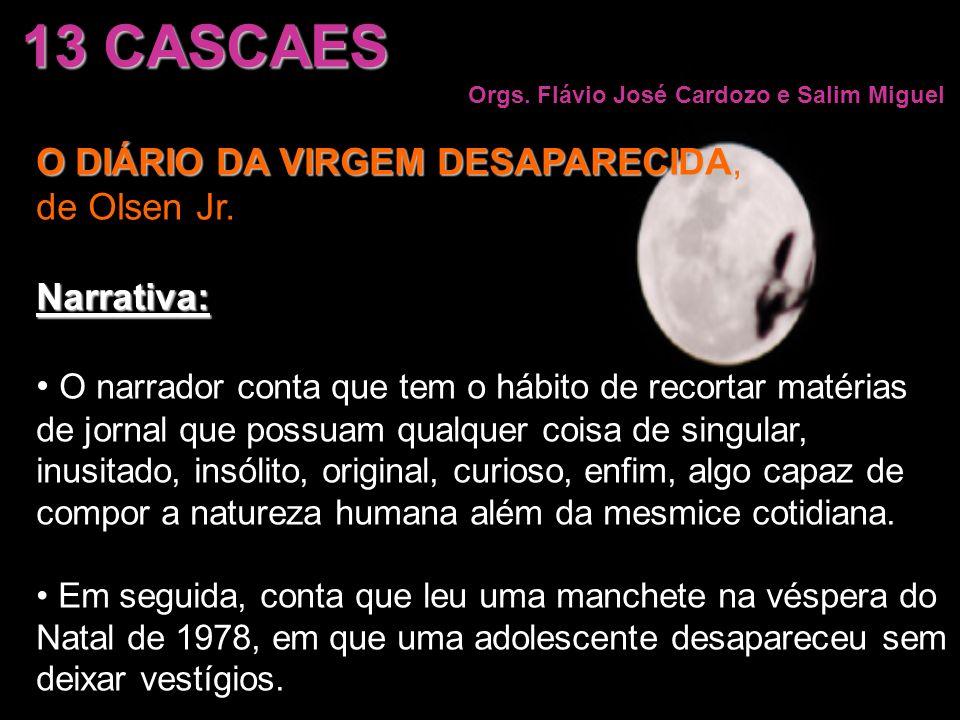 13 CASCAES O DIÁRIO DA VIRGEM DESAPARECIDA, de Olsen Jr. Narrativa: