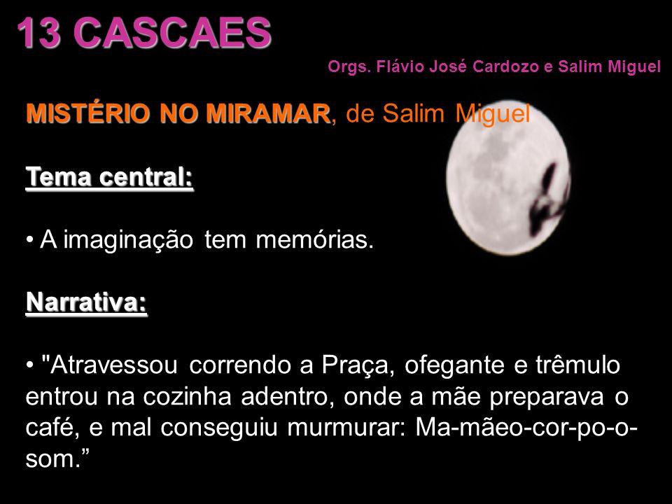 13 CASCAES MISTÉRIO NO MIRAMAR, de Salim Miguel Tema central: