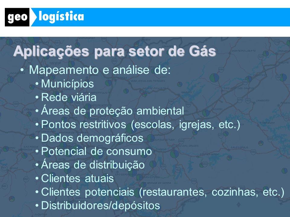 Aplicações para setor de Gás
