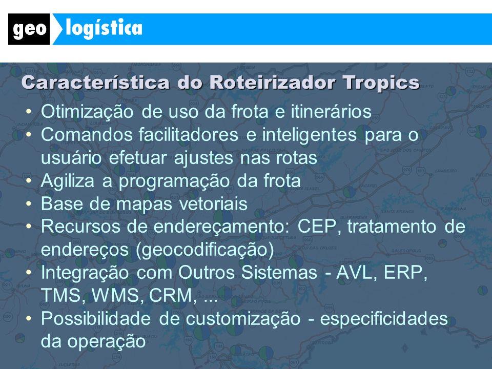 Característica do Roteirizador Tropics