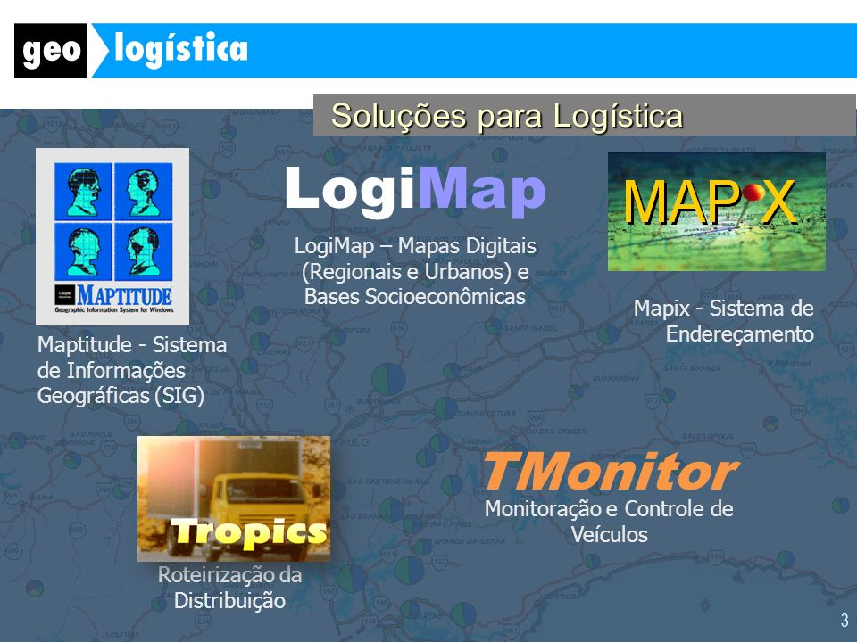 LogiMap TMonitor Soluções para Logística