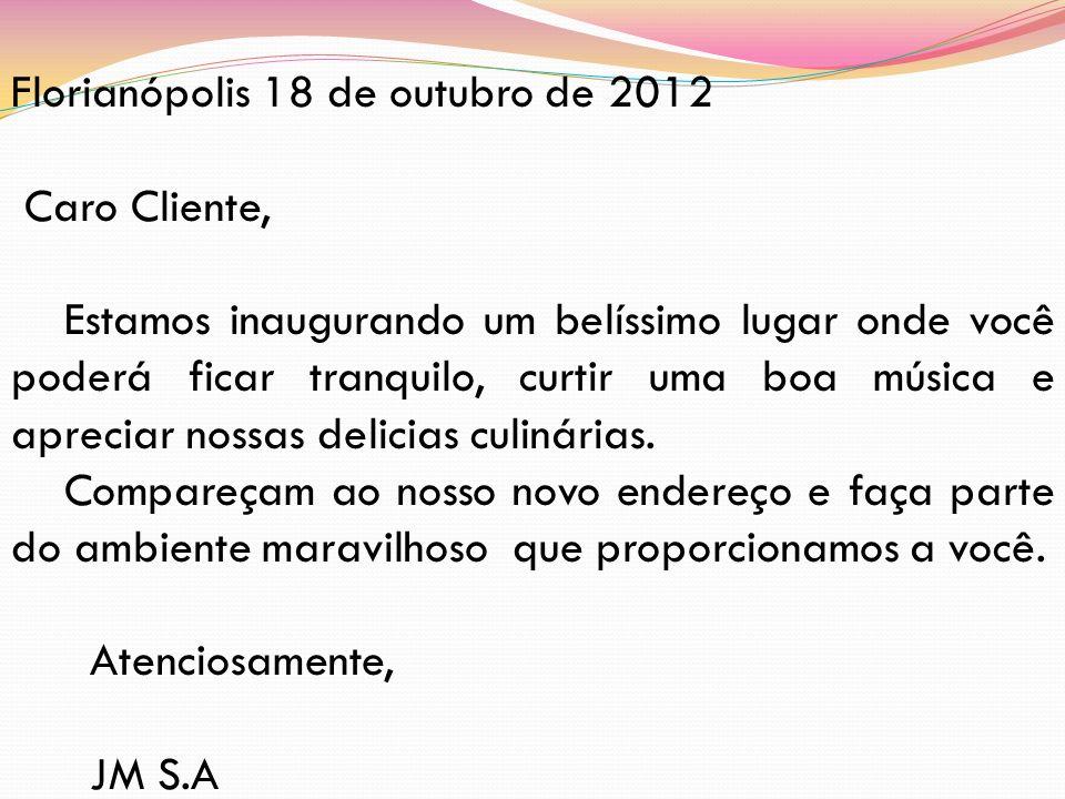 Florianópolis 18 de outubro de 2012