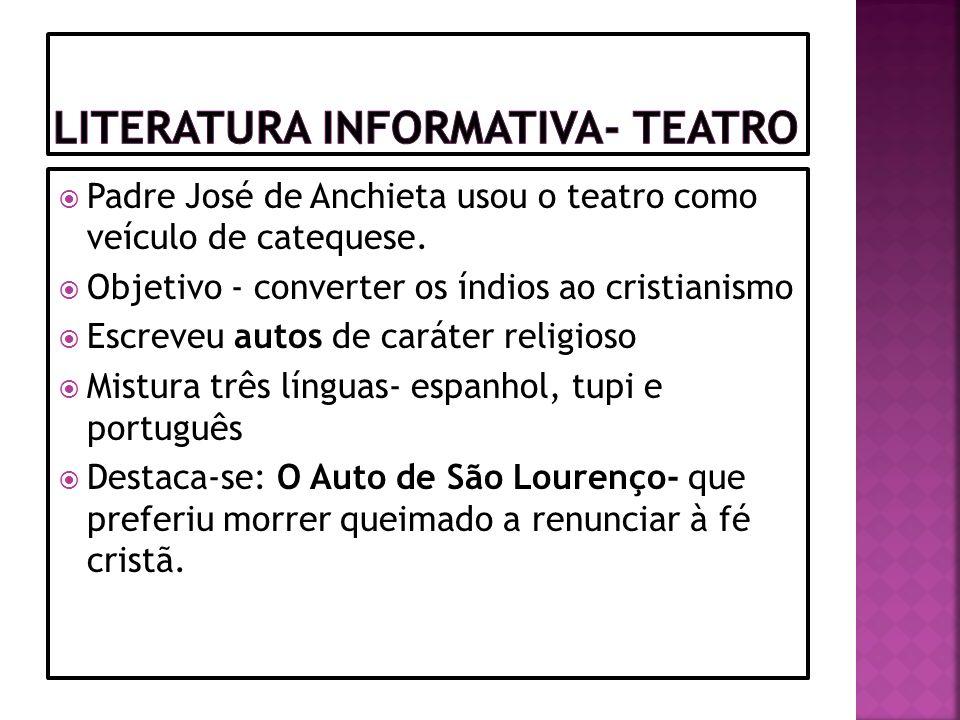 Literatura Informativa- Teatro