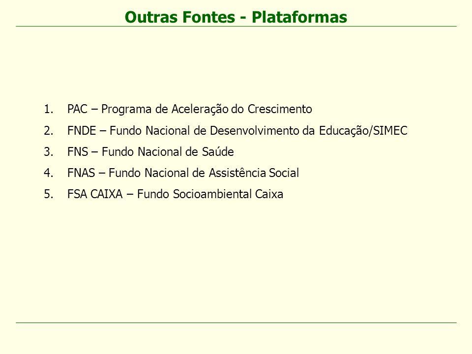 Outras Fontes - Plataformas