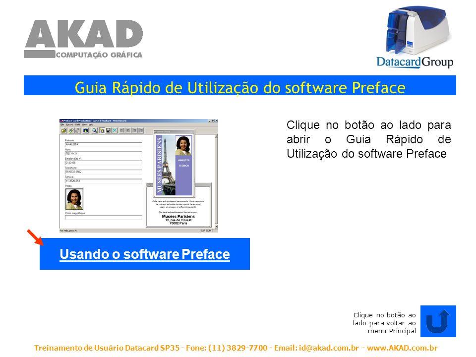 Usando o software Preface