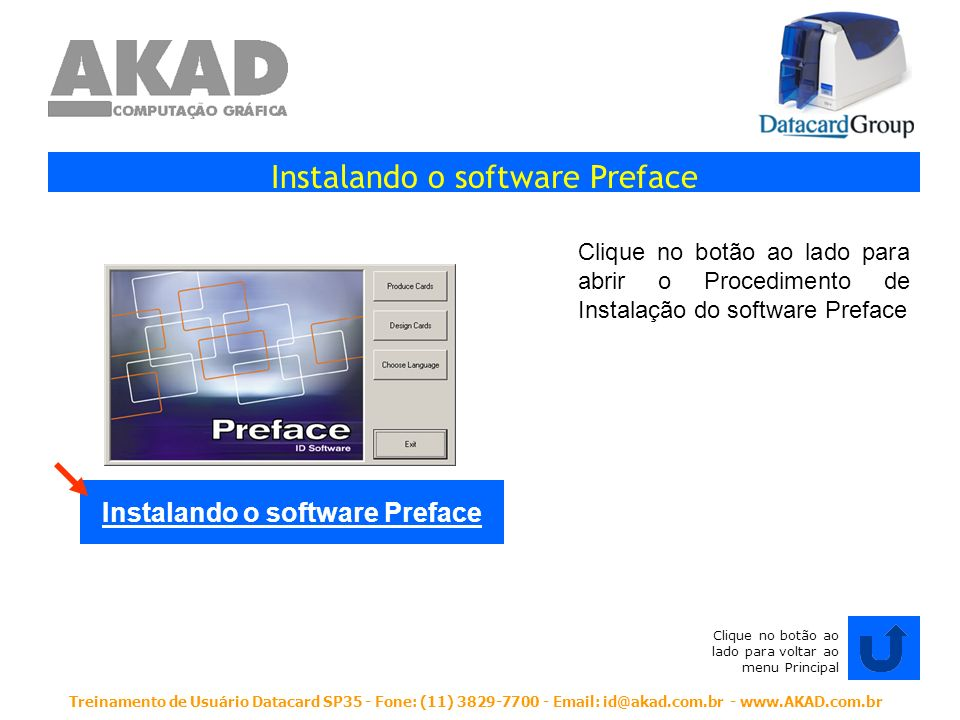 Instalando o software Preface