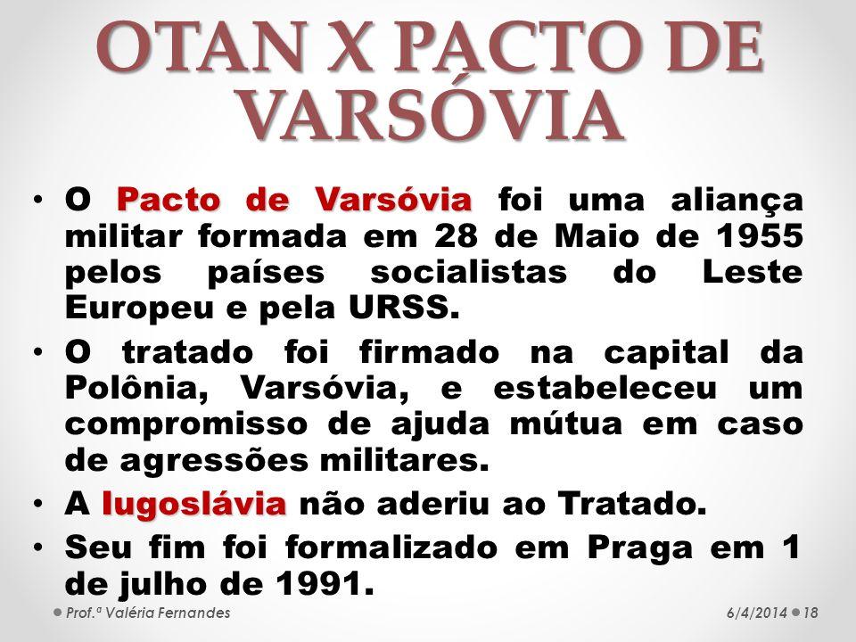 OTAN X PACTO DE VARSÓVIA