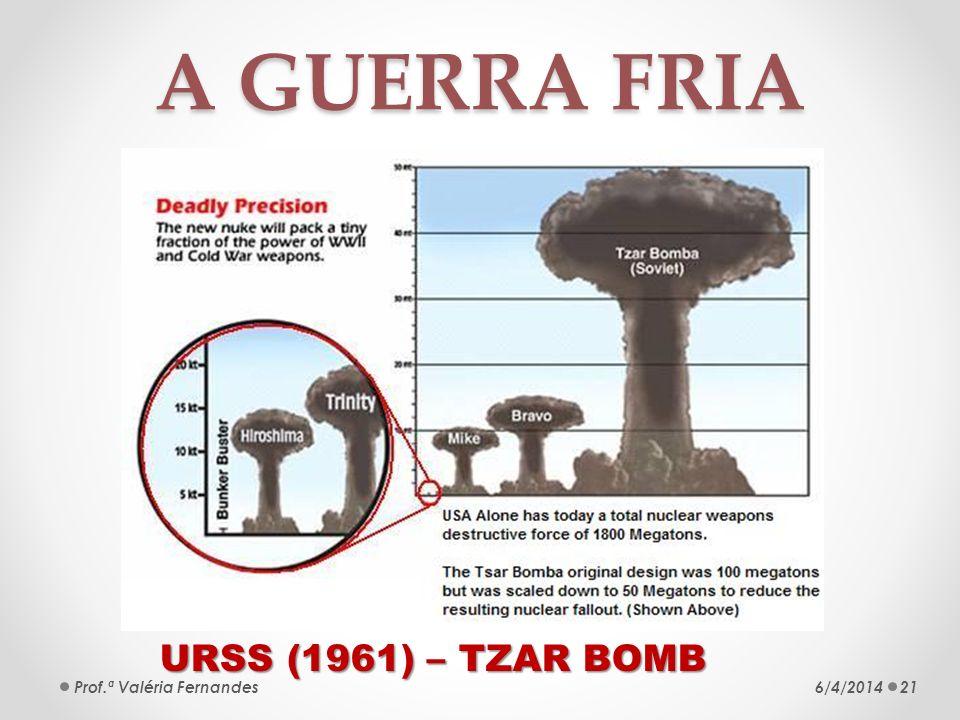 A GUERRA FRIA URSS (1961) – TZAR BOMB Prof.ª Valéria Fernandes
