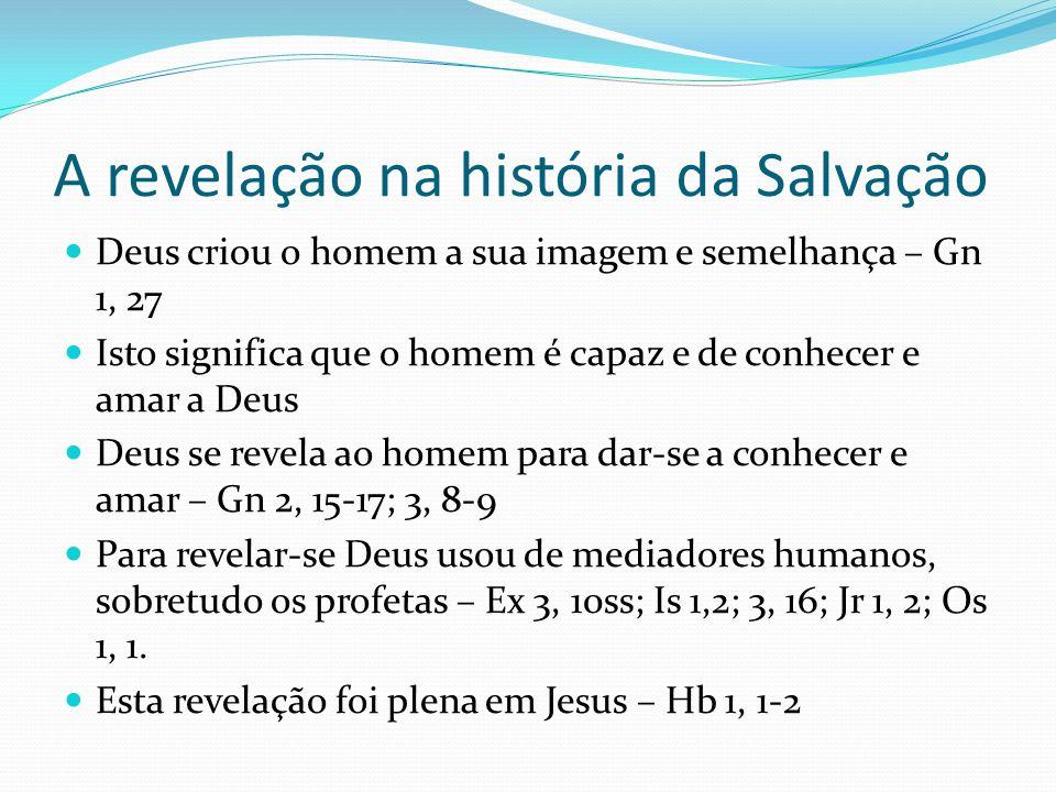 A revelação na história da Salvação