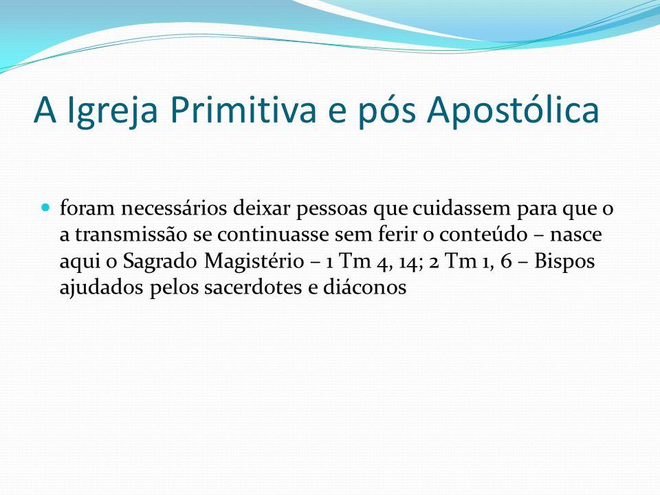 A Igreja Primitiva e pós Apostólica