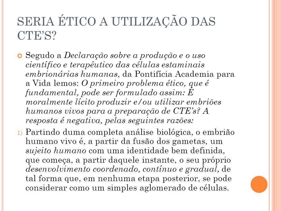 SERIA ÉTICO A UTILIZAÇÃO DAS CTE'S