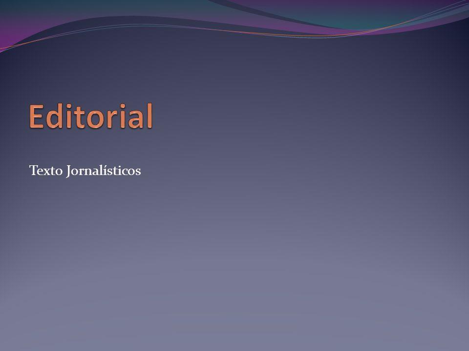 Editorial Texto Jornalísticos