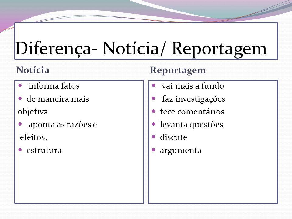 Diferença- Notícia/ Reportagem