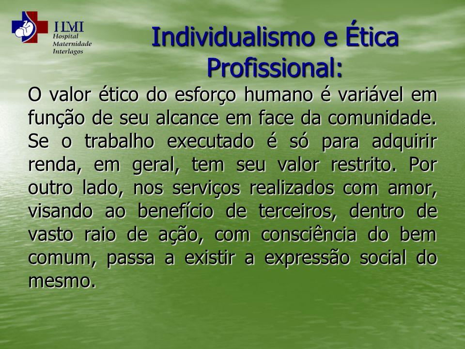 Individualismo e Ética Profissional:
