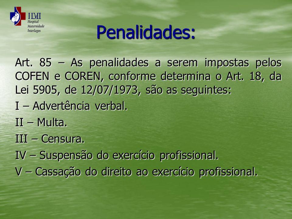 Penalidades: