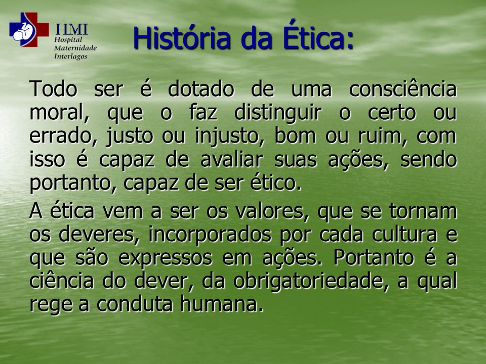 História da Ética:
