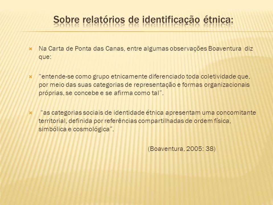 Sobre relatórios de identificação étnica: