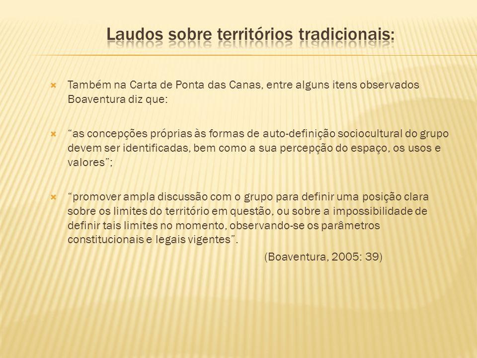 Laudos sobre territórios tradicionais: