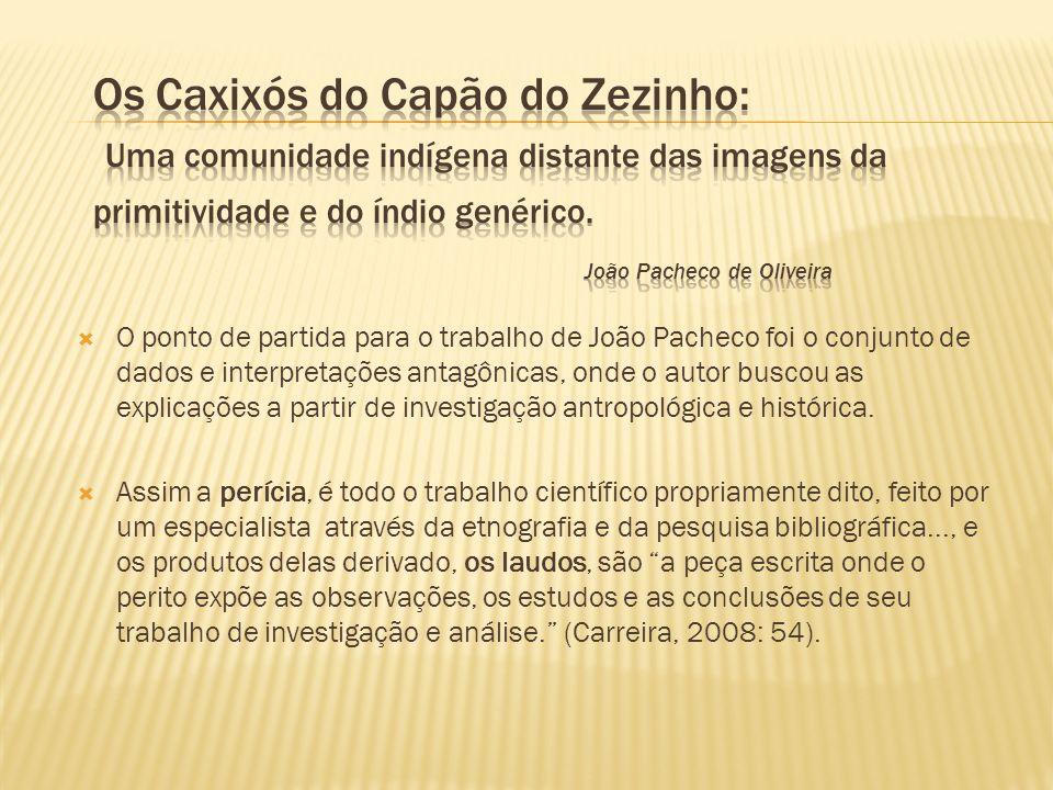 Os Caxixós do Capão do Zezinho: Uma comunidade indígena distante das imagens da primitividade e do índio genérico. João Pacheco de Oliveira