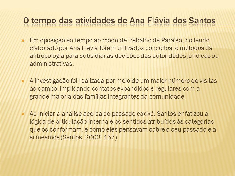 O tempo das atividades de Ana Flávia dos Santos