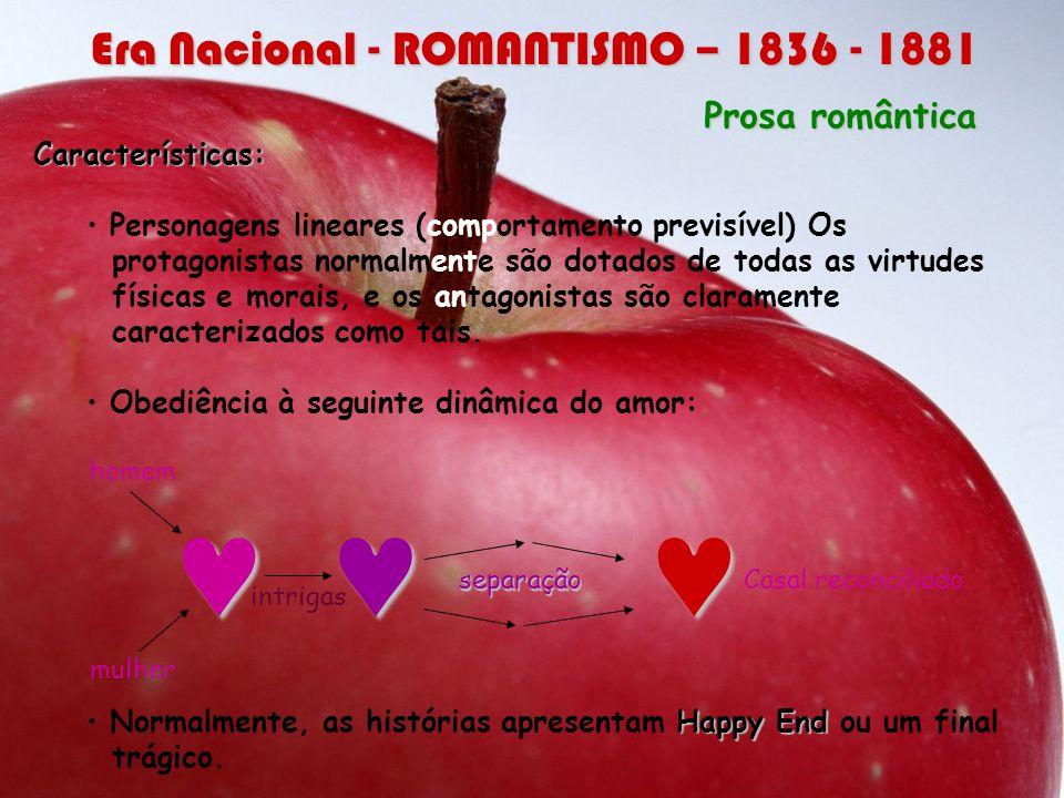 © © © Era Nacional - ROMANTISMO – 1836 - 1881 Prosa romântica