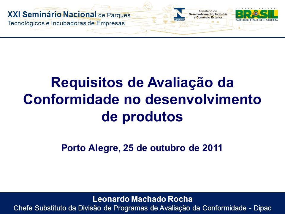 Requisitos de Avaliação da Conformidade no desenvolvimento de produtos