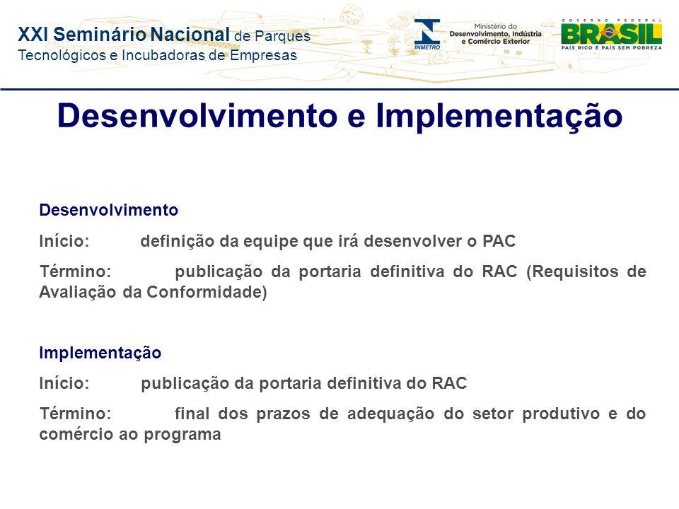 Desenvolvimento e Implementação