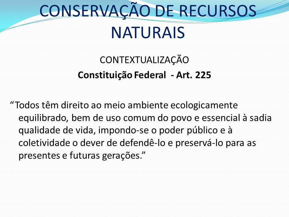 CONSERVAÇÃO DE RECURSOS NATURAIS