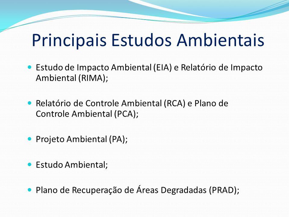 Principais Estudos Ambientais