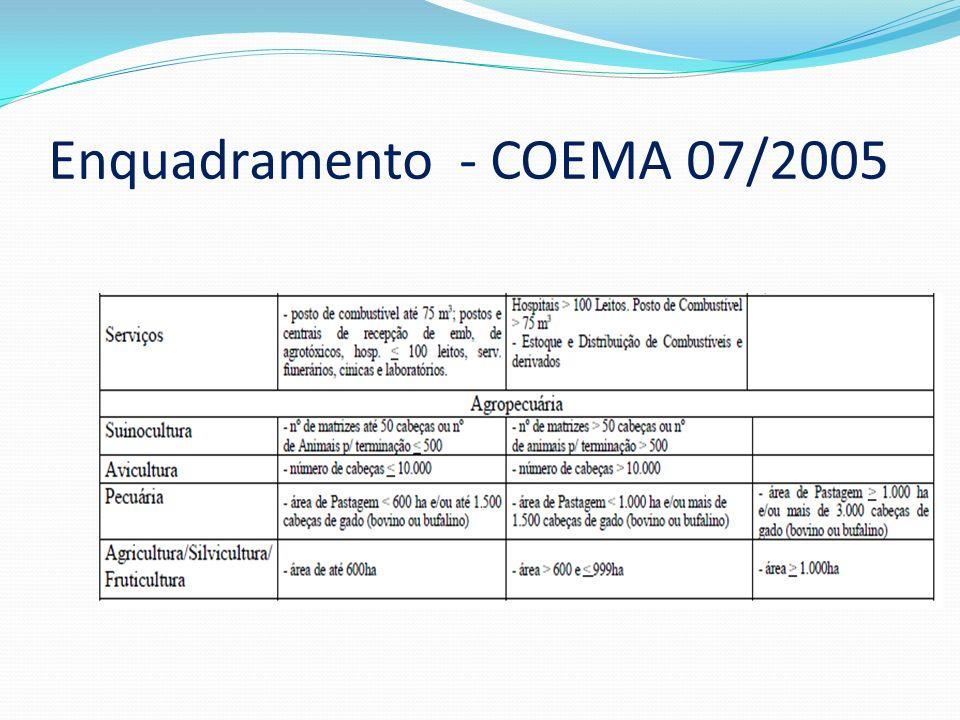 Enquadramento - COEMA 07/2005