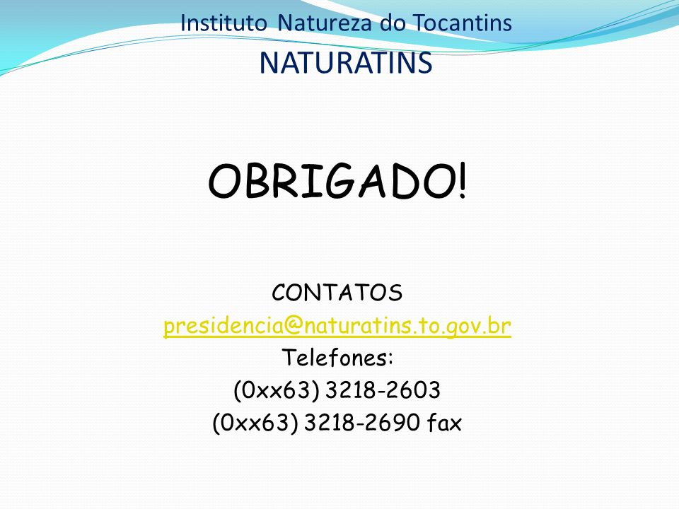 Instituto Natureza do Tocantins NATURATINS