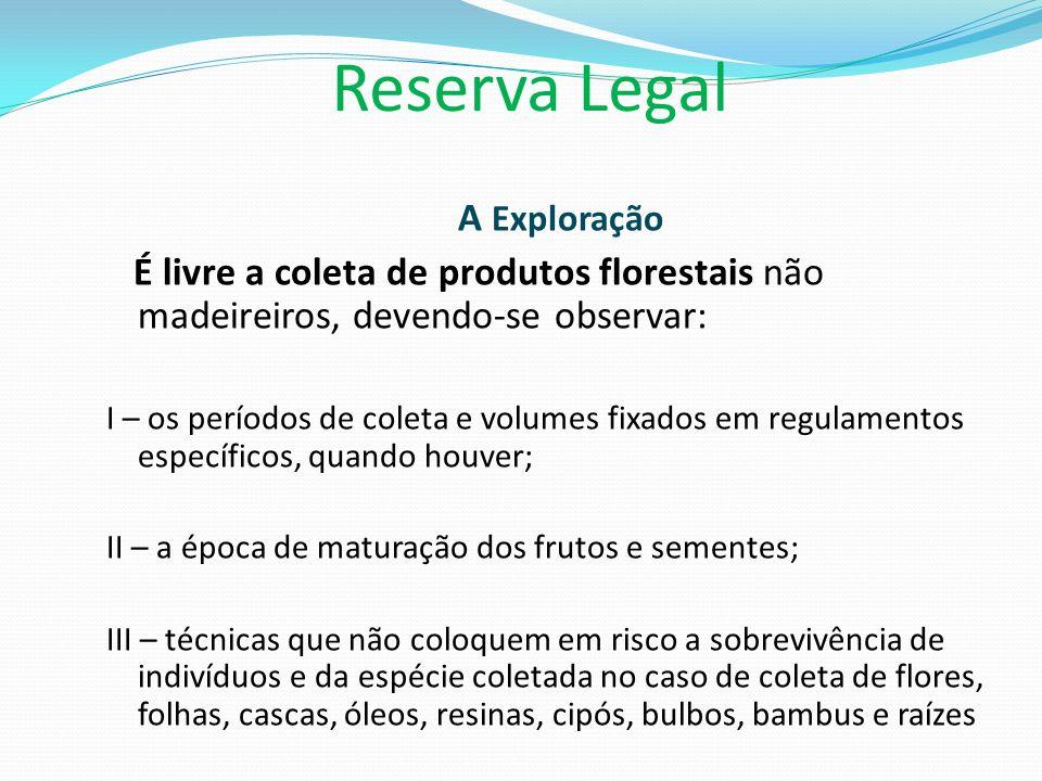 Reserva Legal A Exploração