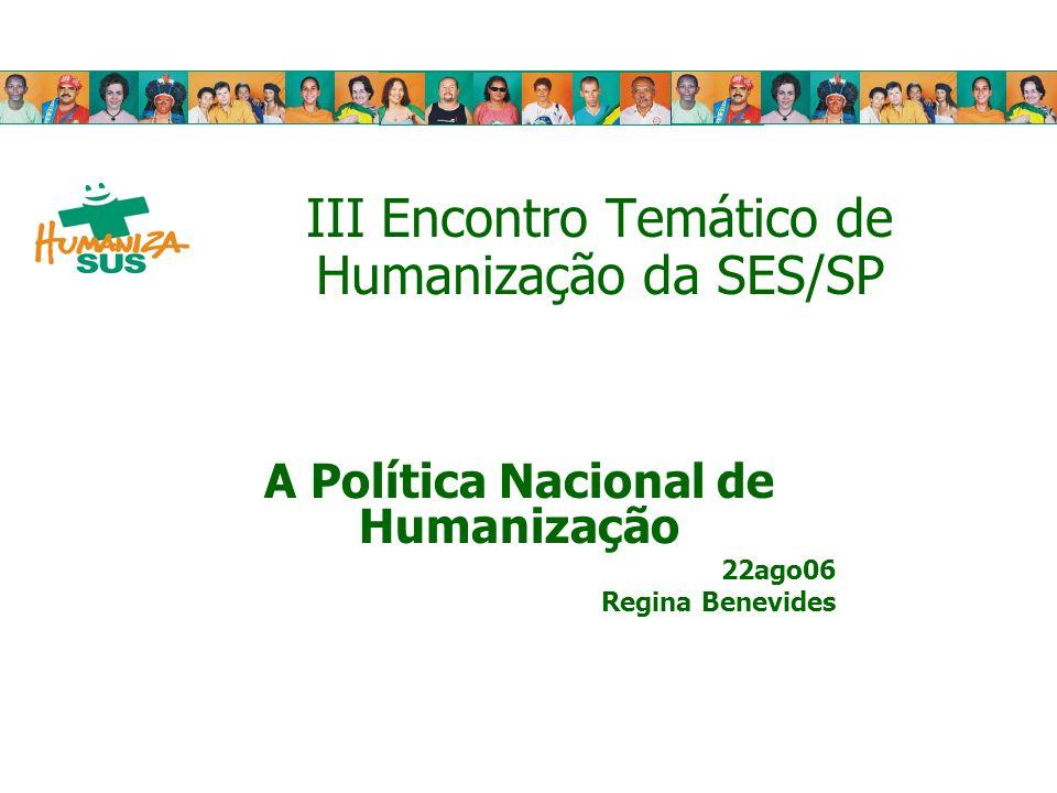 III Encontro Temático de Humanização da SES/SP