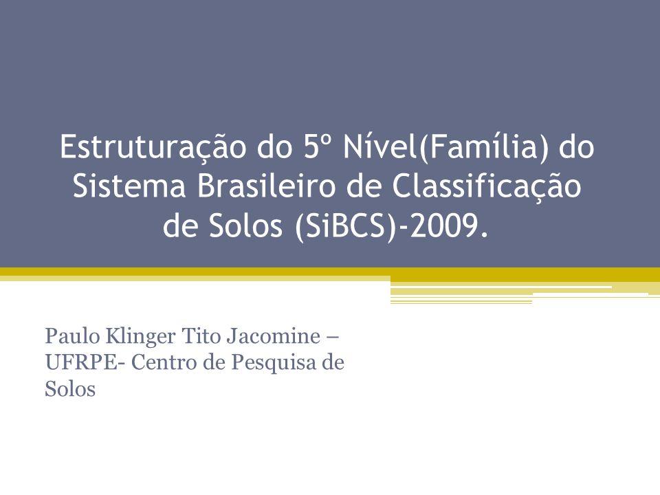 Paulo Klinger Tito Jacomine – UFRPE- Centro de Pesquisa de Solos