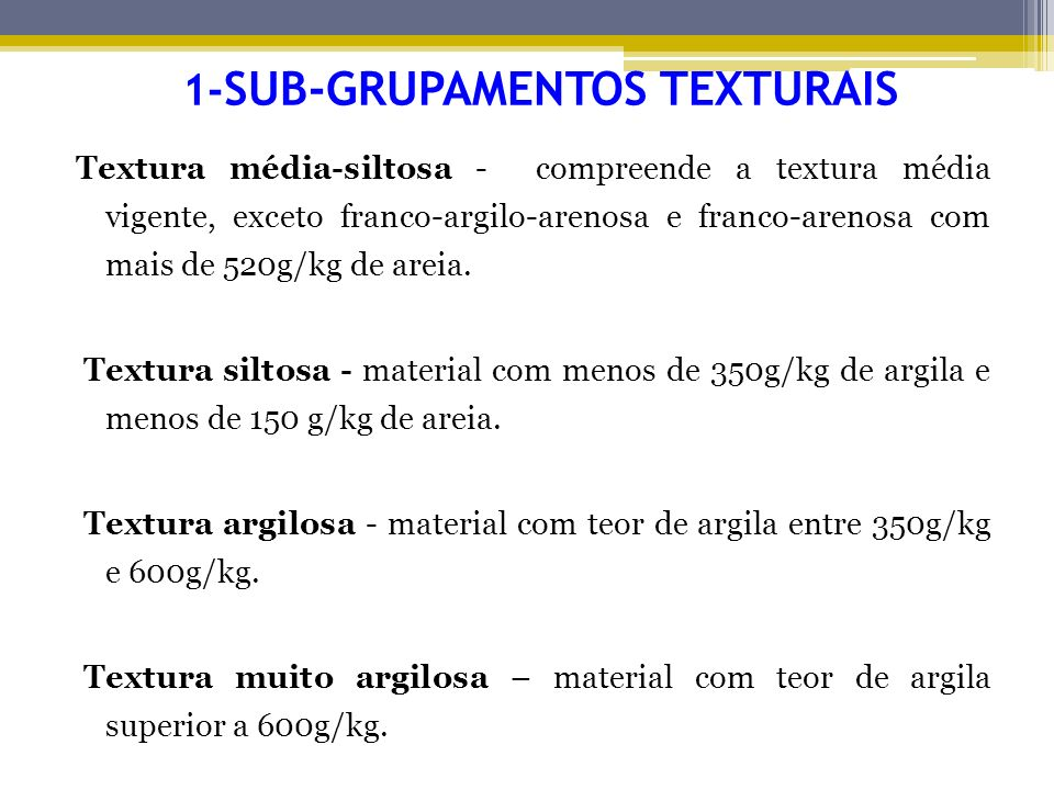 1-SUB-GRUPAMENTOS TEXTURAIS