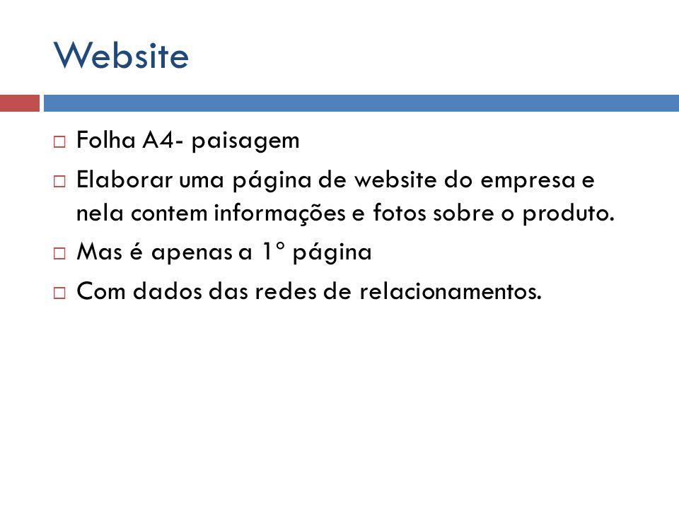 Website Folha A4- paisagem