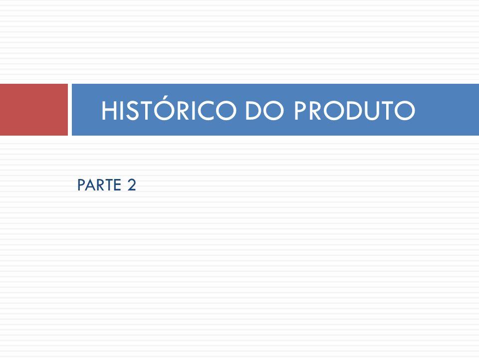 HISTÓRICO DO PRODUTO PARTE 2