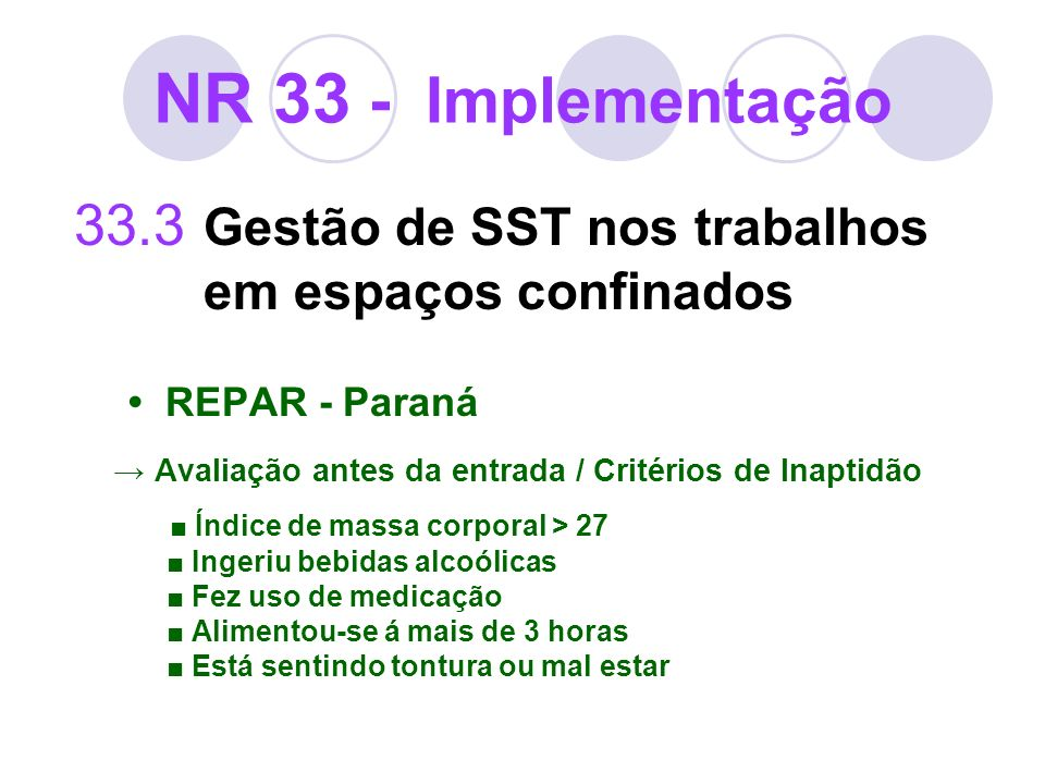 NR 33 - Implementação