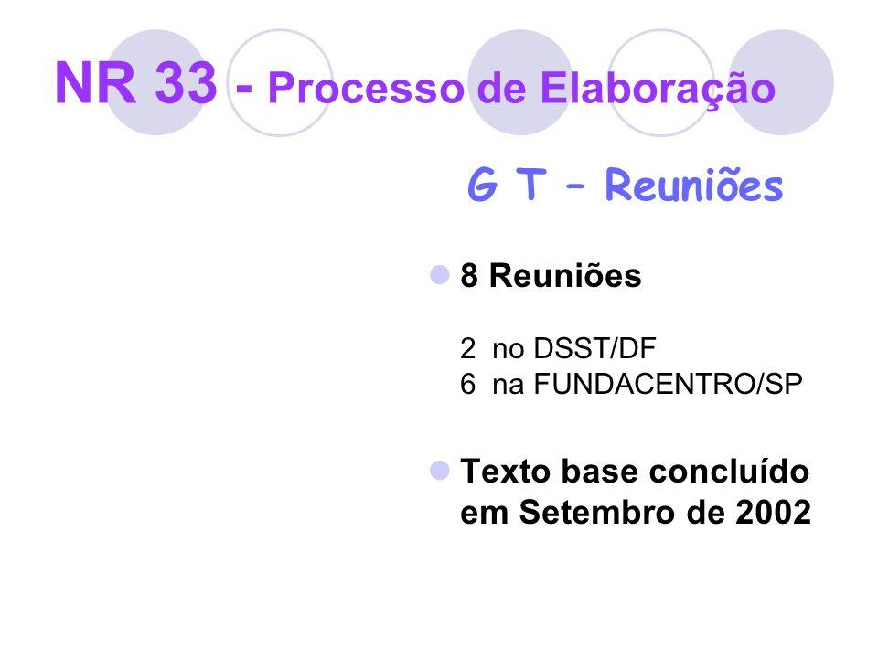 NR 33 - Processo de Elaboração
