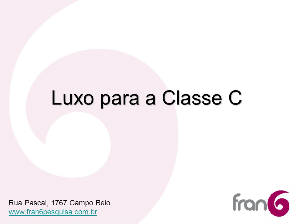 Luxo para a Classe C Rua Pascal, 1767 Campo Belo