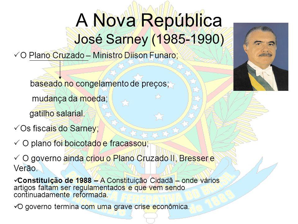 A Nova República José Sarney (1985-1990)