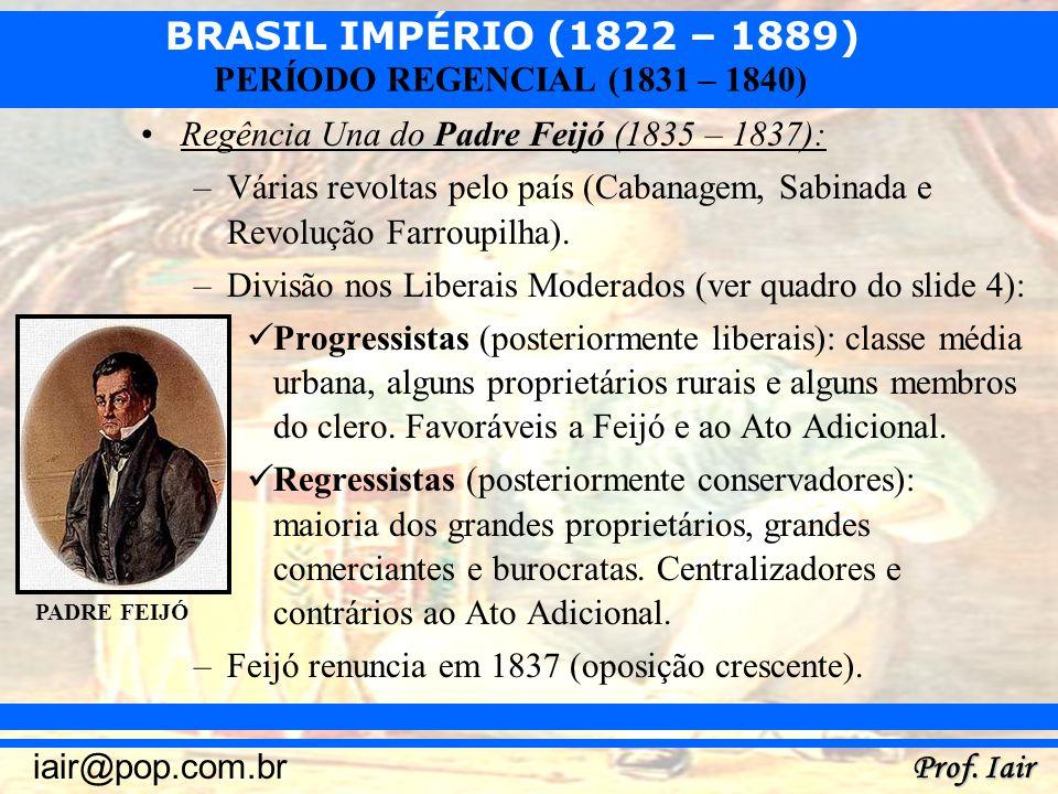 Regência Una do Padre Feijó (1835 – 1837):