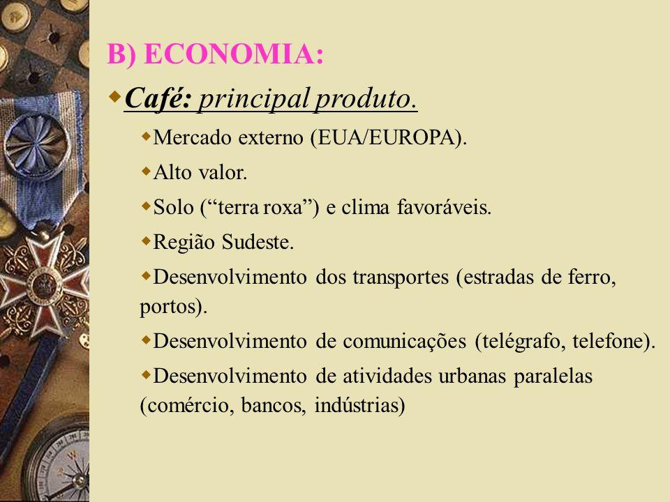 Café: principal produto.