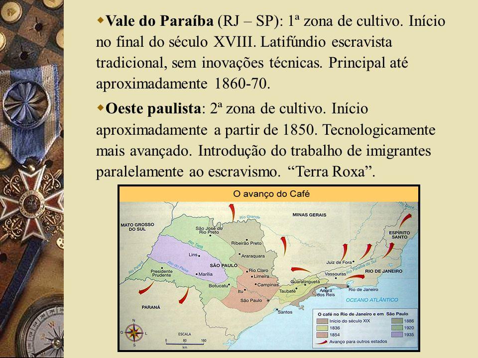 Vale do Paraíba (RJ – SP): 1ª zona de cultivo