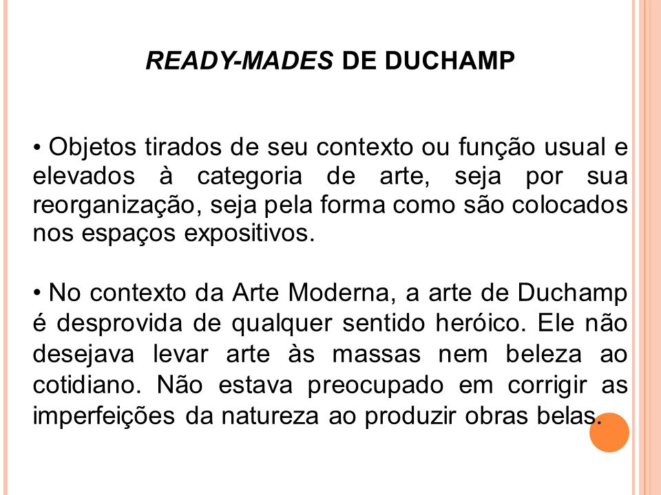 READY-MADES DE DUCHAMP