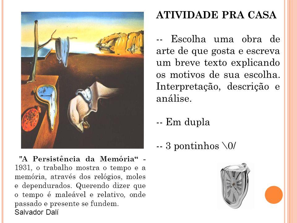 ATIVIDADE PRA CASA