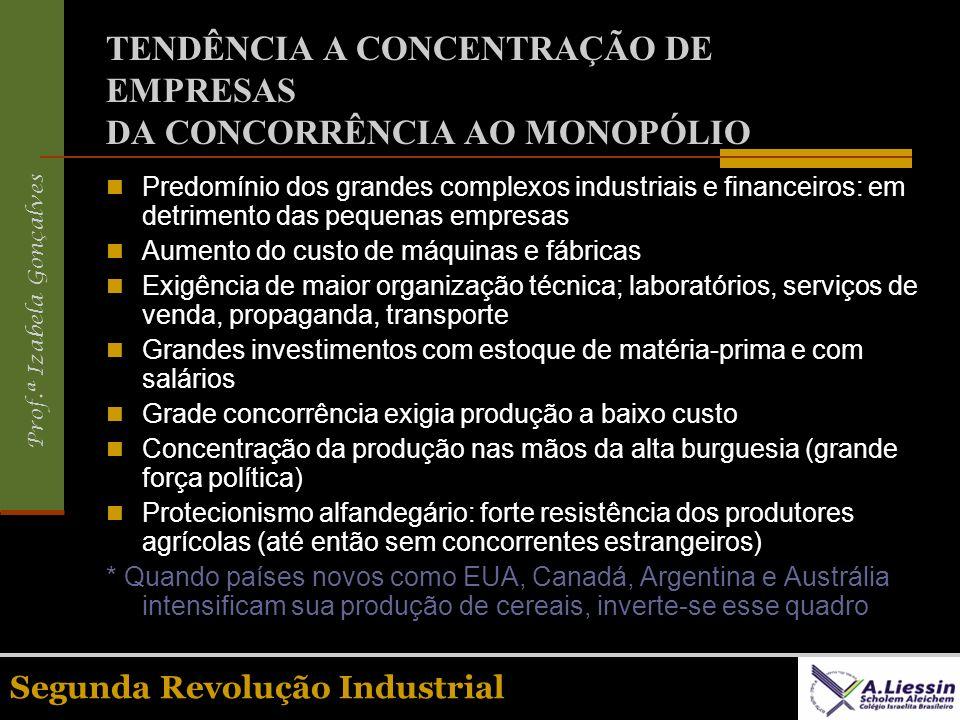 TENDÊNCIA A CONCENTRAÇÃO DE EMPRESAS DA CONCORRÊNCIA AO MONOPÓLIO